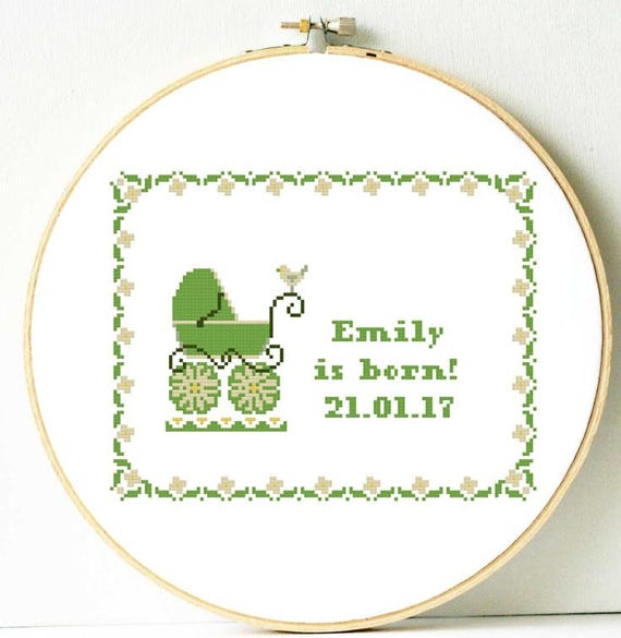 1x Counted Cross Stitch Height Chart Baby Shower Sewing Craft Tool Art