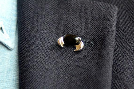 Spilla da giacca con piccolo granchio, Pins da uomo made in Italy, Gioielli di design
