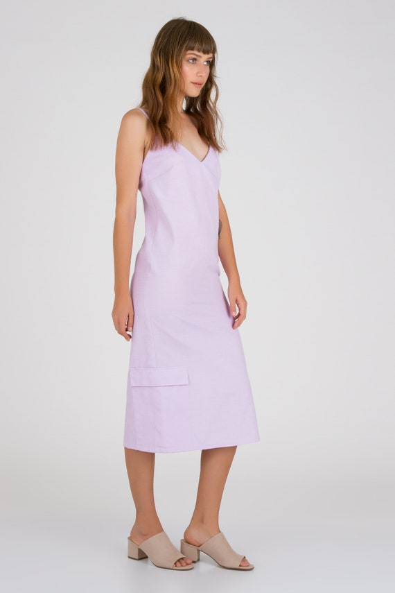 discount sale latest design exclusive deals Lilac Midi Dress Summer Linen Dress Loose Casual Summer   Etsy