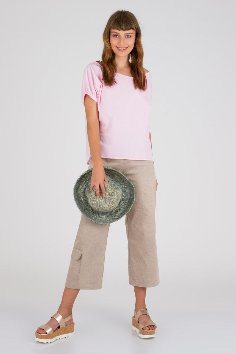 1d601e9d2fc Light Pink One Shoulder Tops Women Summer Blouses Loose | Etsy