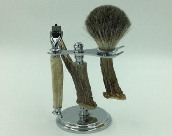 Antler Shaving Set