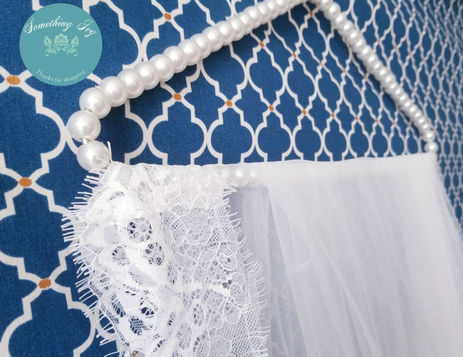 Pearl Hanger, Wedding Veil Hanger, Cathedral Veil Hanger, Pearl ...