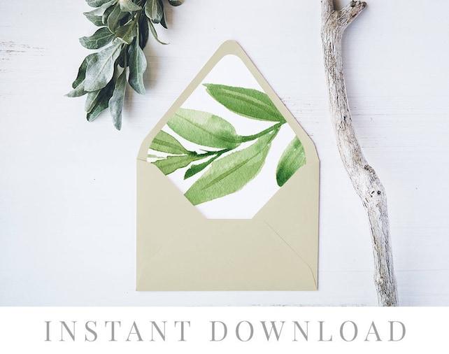 Printable Envelope Liner Instant Download 11 Sizes Liner Template