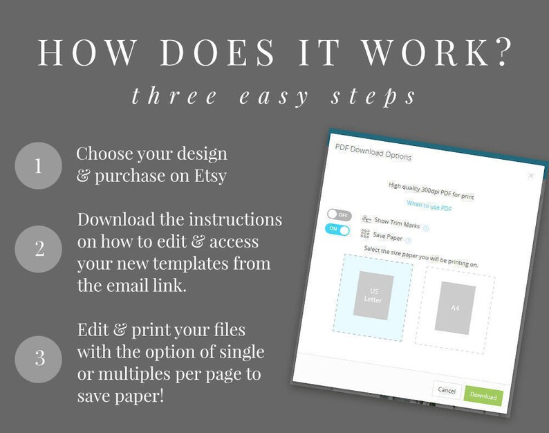 Editable Template Dusty Blue Wedding Invitation Set INSTANT DOWNLOAD Black /& Green French Blue Templett DIY Printable Invite