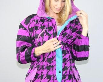 90s Obermeyer Blondie Ski Jacket. Obermeyer. 90s Ski Jacket. Funky 90s Jacket. Purple Jacket. 90s Jacket. Obermeyer Blondie. Purple Ski coat