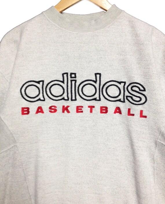 Rare Vintage Adidas Basketball Sweatshirt. Vintage