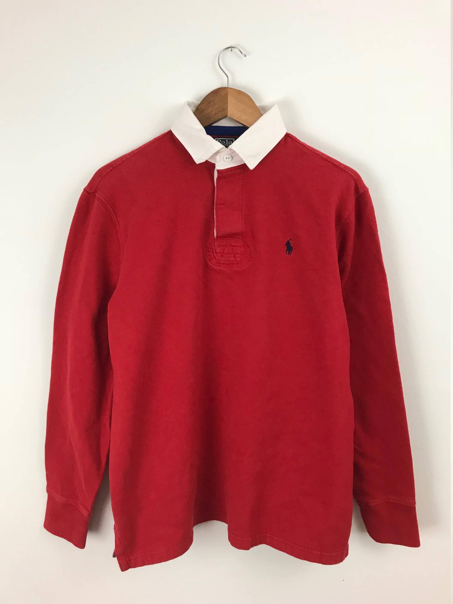 Ralph Lauren Long Sleeve Polo Red Polo Ralph Lauren Ralph Etsy
