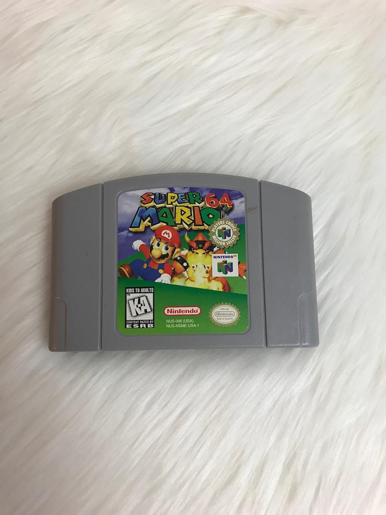 87390b5e7f2bb Super Mario 64. Nintendo 64. Super Mario brothers. Mario.   Etsy