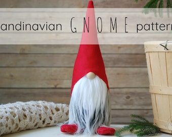 kringle the scandinavian christmas gnome pattern by nordikatja do it yourself diy pdf download pattern for tomte or nisse