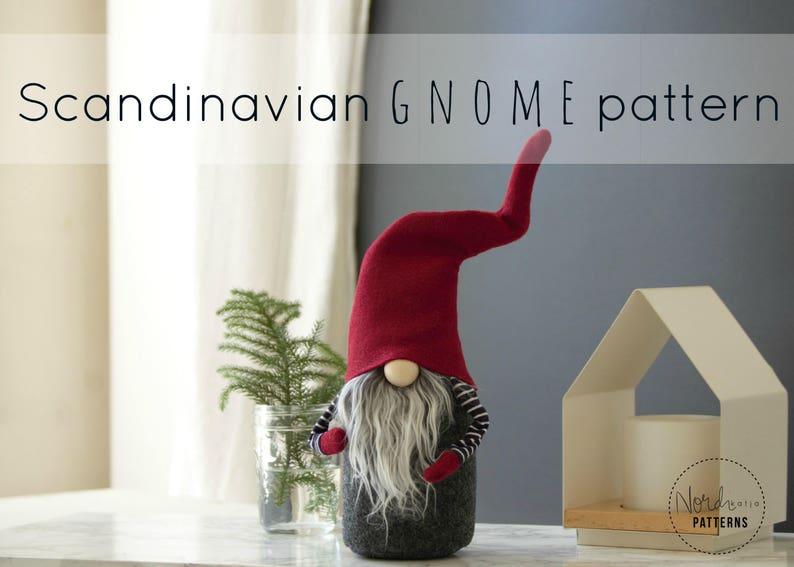 Claus the Scandinavian Christmas Gnome PATTERN by NORDIKatja  image 0