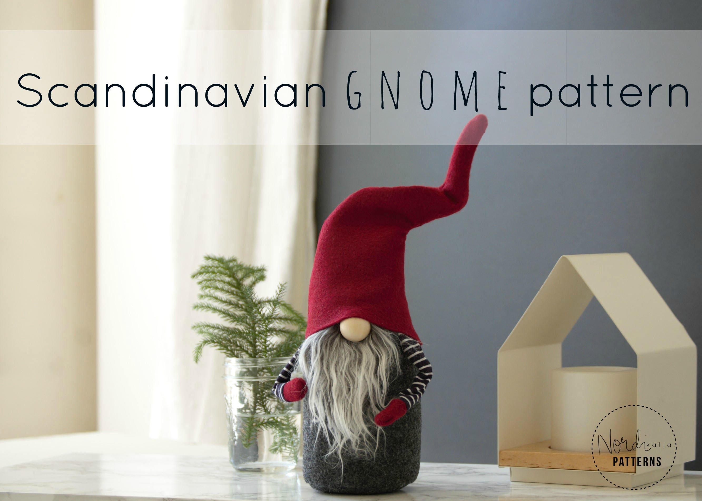 Claus the scandinavian christmas gnome pattern by nordikatja etsy