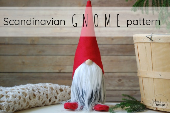Christmas Gnome.Kringle The Scandinavian Christmas Gnome Pattern By Nordikatja Do It Yourself Diy Pdf Download Pattern For Tomte Or Nisse
