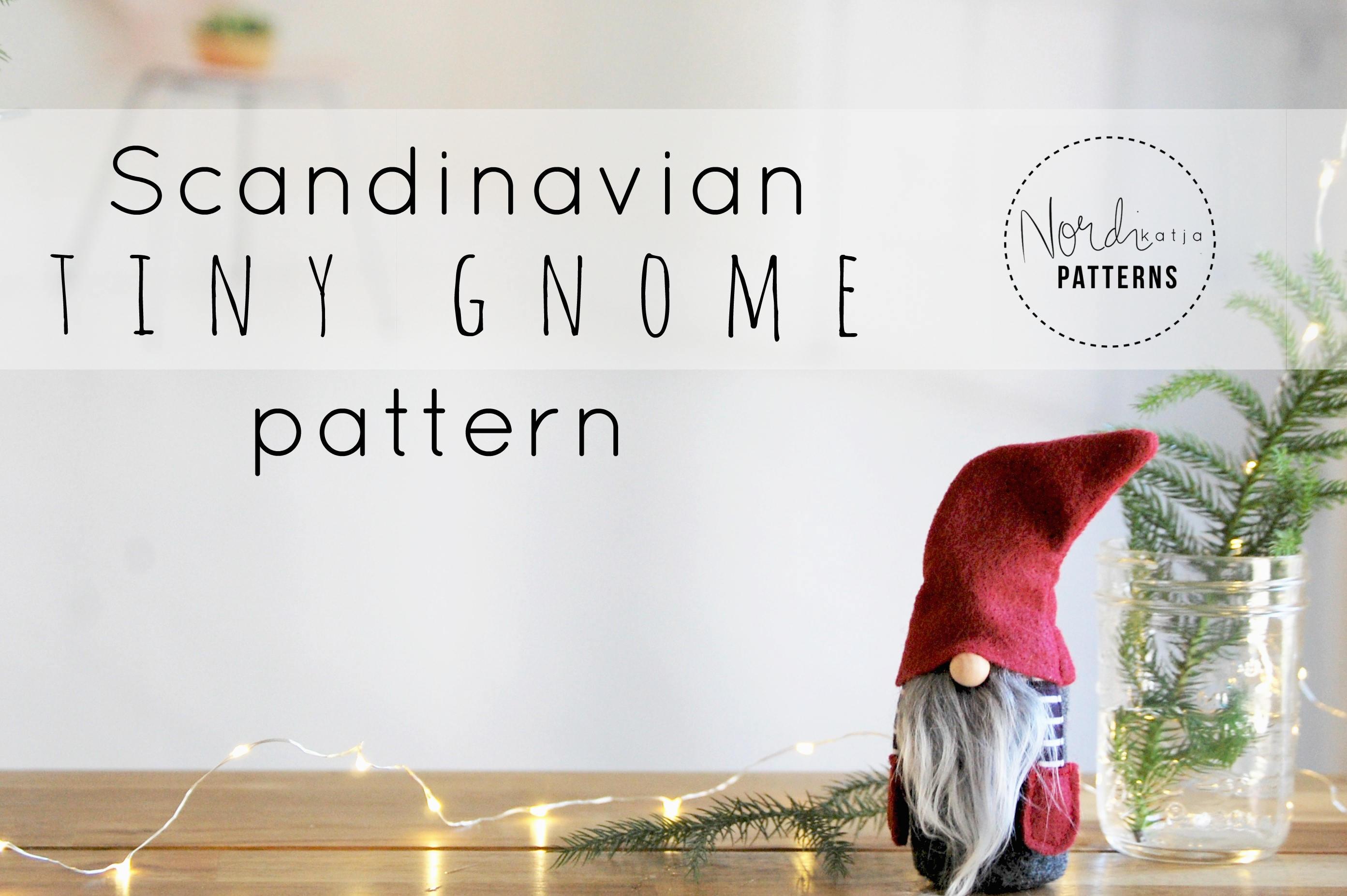 Scandinavian tiny gnome pattern by nordikatja do it etsy