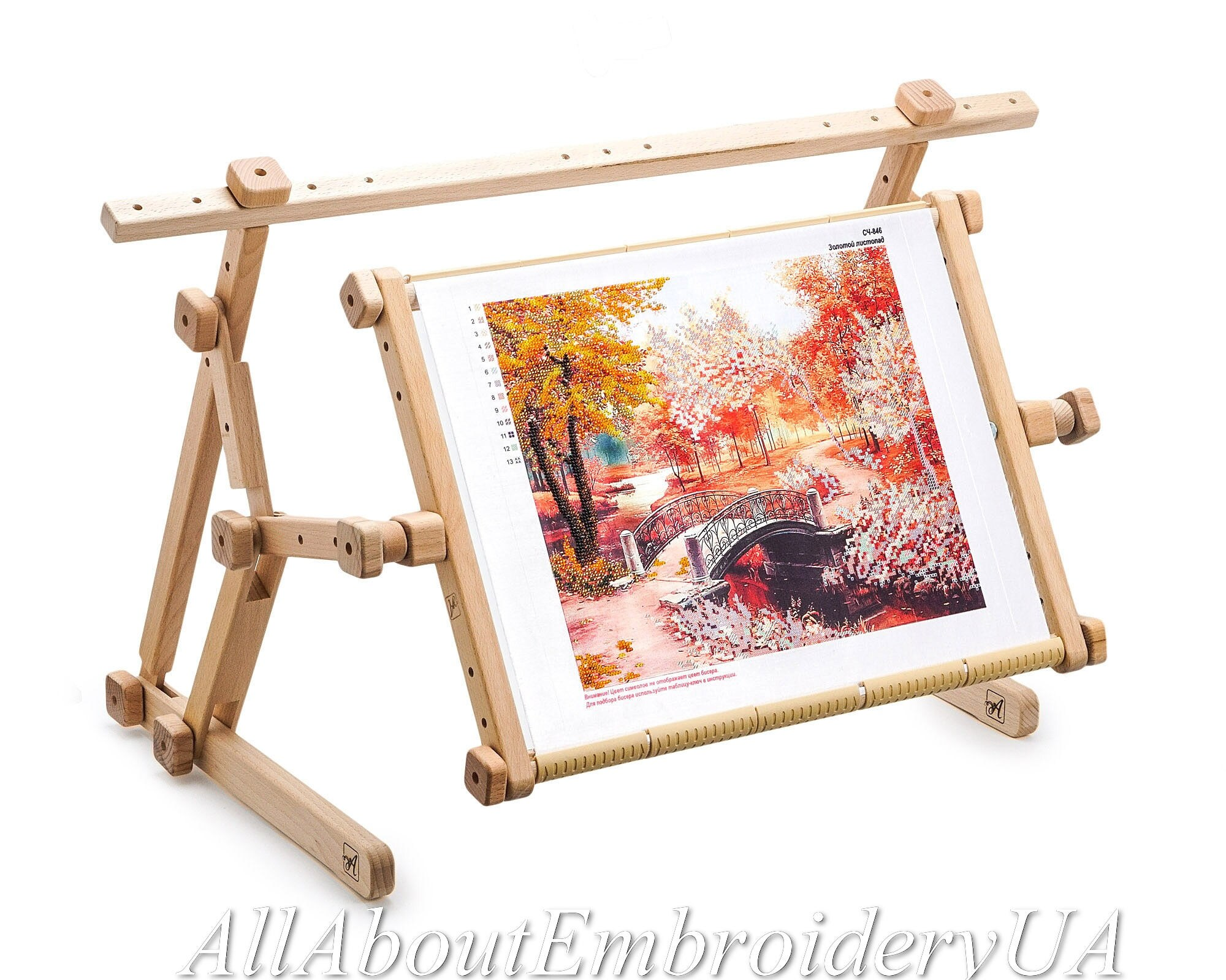 Needlework Adjustable Lap Table Stand Hands free Wooden Embroidery ...