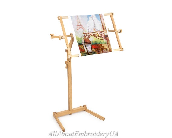 Needlework Floor Standing Type Stand With Adjustable Frame Etsy