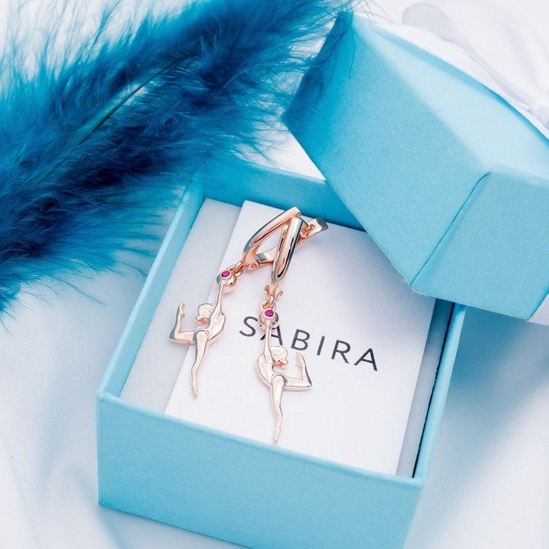Gymnasts Earrings-Gymnasts Gift-Sport Gift-Sport Earrings-Athlete  Earrings-Fitness Earrings-Fitness Gift-Ball Earrings