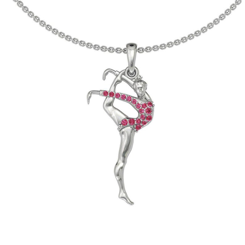 Gymnastics Pendant-Gymnastics Necklace-Sport Pendant-Sport Necklace-Athlete Necklace-Athlete Gift-Fitness Necklace-Fitness Gift