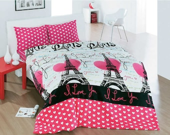 duvet cover paris eiffel bedding quilt cover