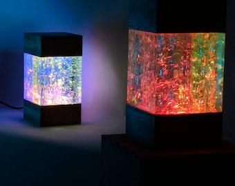 Modern lava lamp, mood cube light