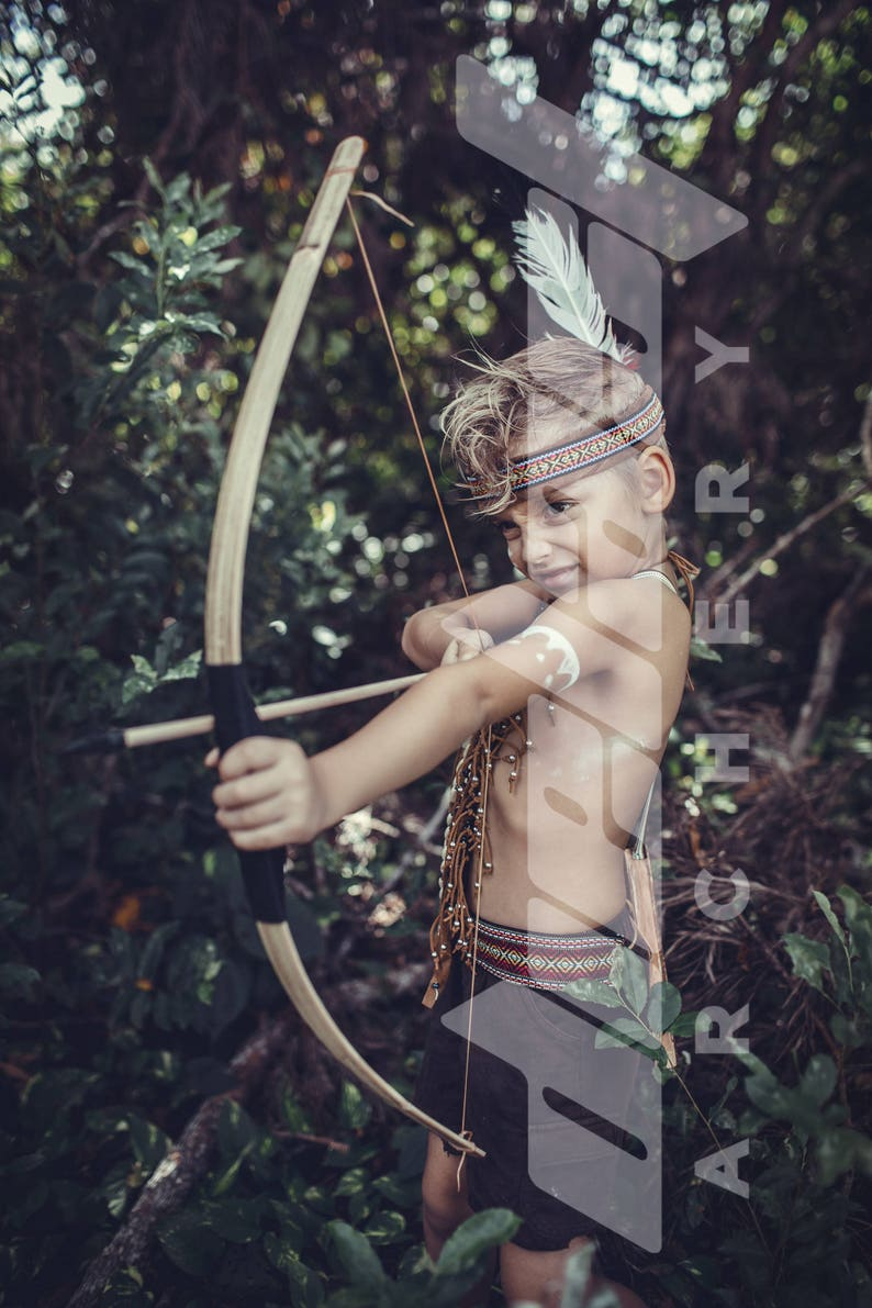 Kids Wooden Bow and Arrow set for fun target shooting image 0