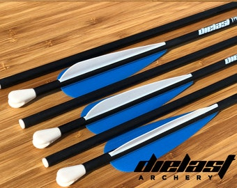 6 Immortal Arrow Shaft - Set of 6 Extremely High Durability Shafts for LARP Archery - Require DIY or Modular LARP arrow heads.