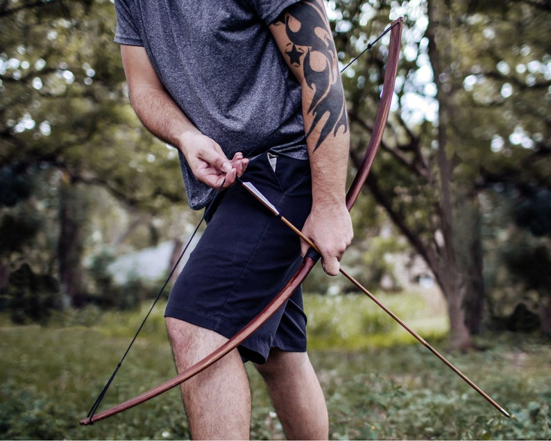 Standard Straight Archery Bow for Adults   35lb Faux image 1