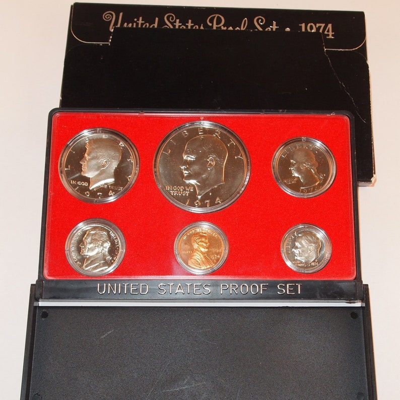 Coin Set w// Box Very Nice with Original Box 1981-S United States Mint Proof 6