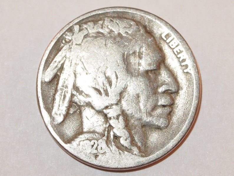 1928-S Indian Head Bison Buffalo Nickel five Cent Coin