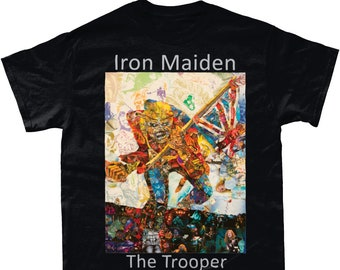 6eb63352d Iron Maiden The Trooper Collage T Shirt