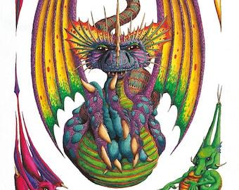 Dragon Egg Poster, Print or Canvas