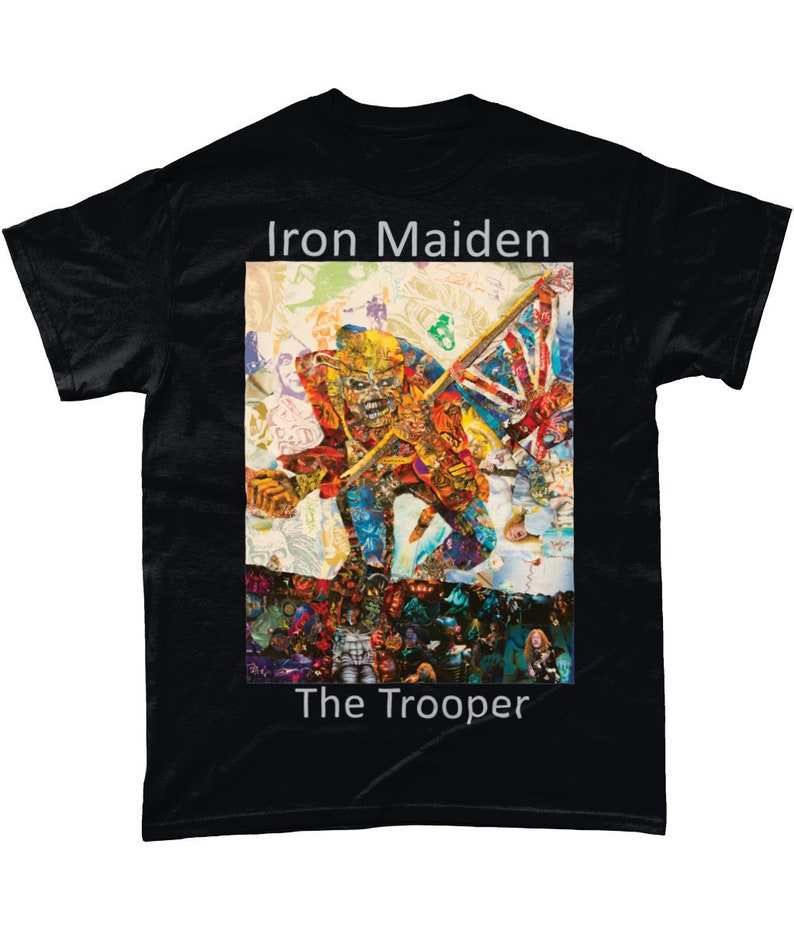 7778ad32 Iron Maiden The Trooper Collage T Shirt   Etsy