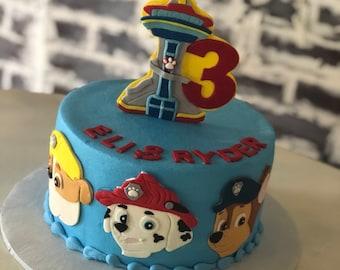 Paw Patrol Cake Topper Fondant