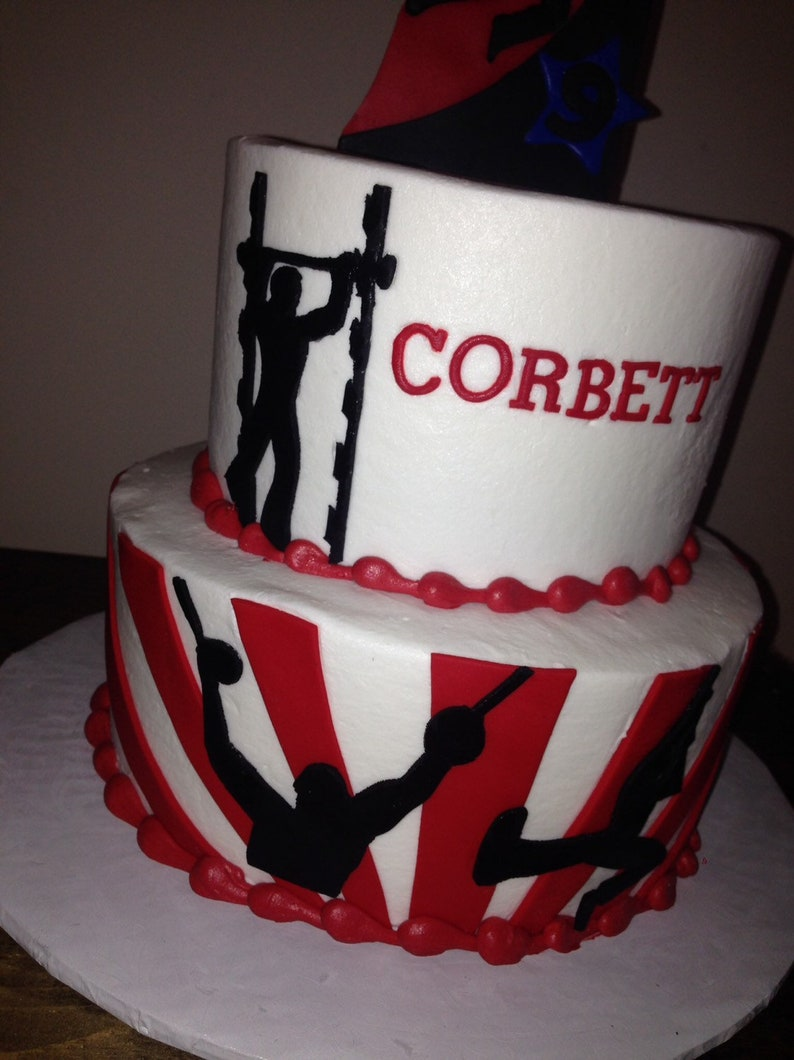 American Ninja Warrior, Cake Topper, Fondant, Birthday