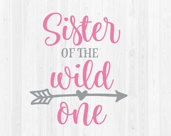 5fd223f2 Sister of the Wild One SVG Cut File | Etsy