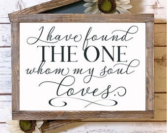 I Have Found The One Whom My Soul Loves - SVG Cut File