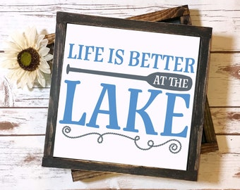 Life Is Better At The Lake - SVG Cut File - Lake Life, Beach Life, Summer SVG, Summer Life