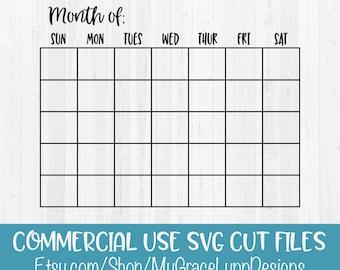 monthly calendar etsy