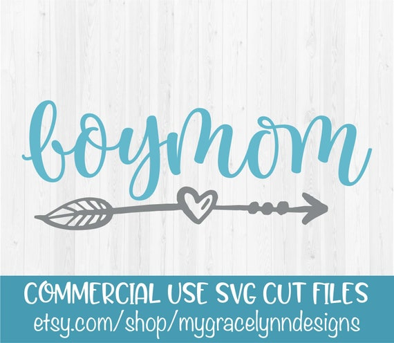 Boy Mom SVG Cut Files | Etsy