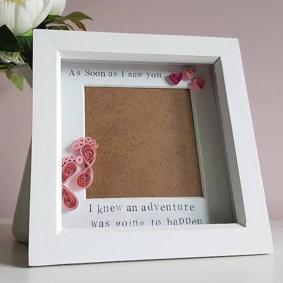 Baby Scan Frame Newborn Gift Picture Frame Paper Quilled Etsy