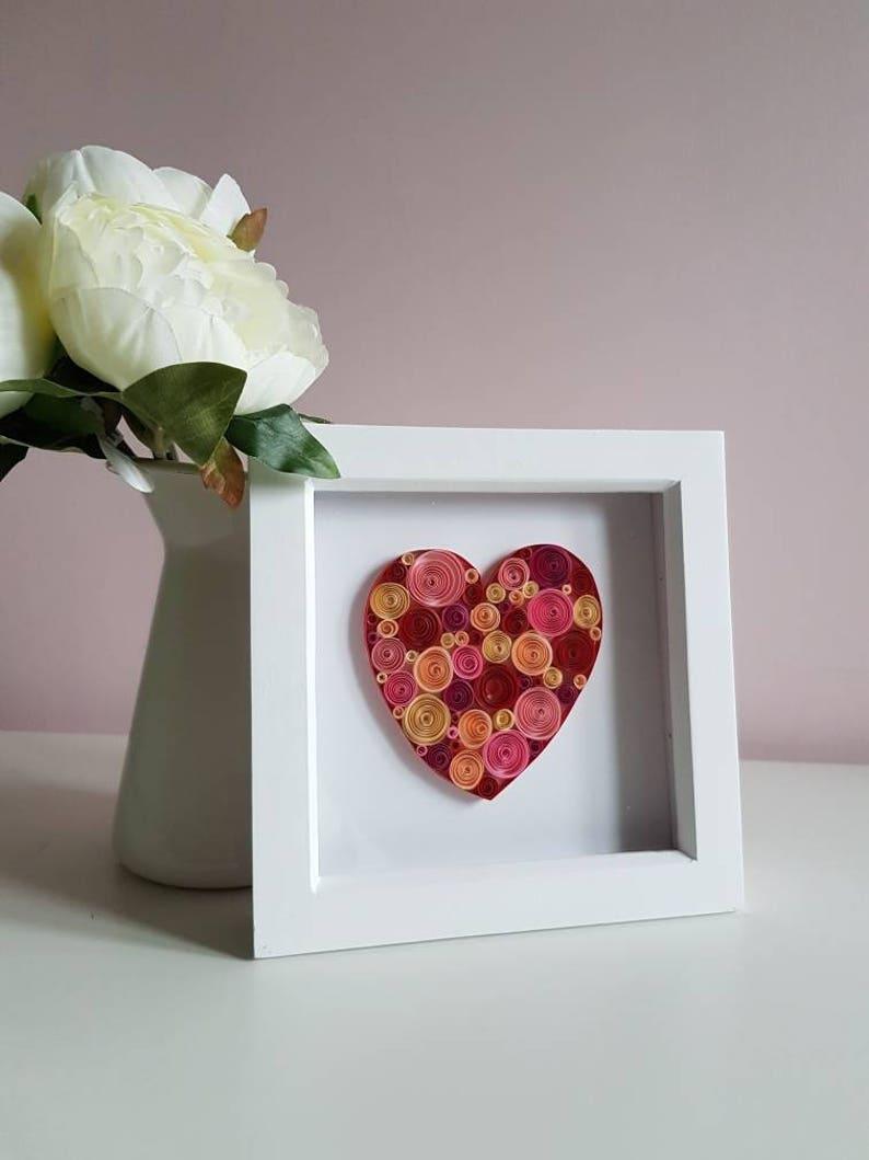 Personalizado de nuestra 1st día de San Valentín Aniversario Regalo De Boda De Acrílico Amor