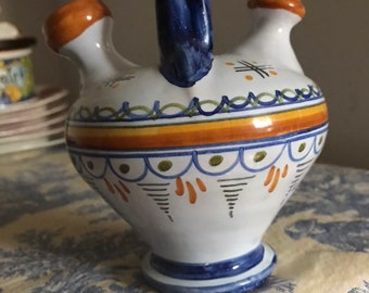 Kitchen, Dining & Bar Vintage Greece Handmade And Painted Ceramic Oil & Vinegar Cruets Home & Garden