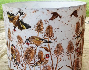 Charm Of Finches Lampshade - wild bird lampshade, bird lampshade, bird lover lampshade, country lampshade, bird lover gift, twitcher gift