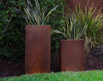 Corten Column Planter