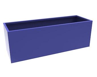 Large Cobalt Blue Powder Coated Box Planter
