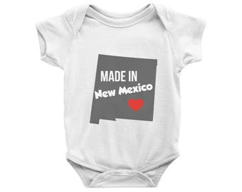 Made in New Mexico Onesie, Made in New Mexico Bodysuit, New Mexico Baby Gift, New Mexico State, Baby Shower Gift, New Mexico Baby Outfit