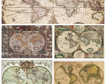 Map wrapping paper etsy old maps download old maps textures digital paper vintage background vintage world maps instant download for personal and commercial use gumiabroncs Gallery