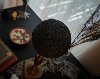 Midnight Black Bath Bomb - bring out your inner goth any time of the year. -VioletJuneCo