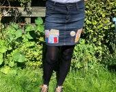 Reloved Denim Skirt size 10