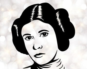Princess Leia Silhouette, artist silhouettes, celebrity silhouette, famous people
