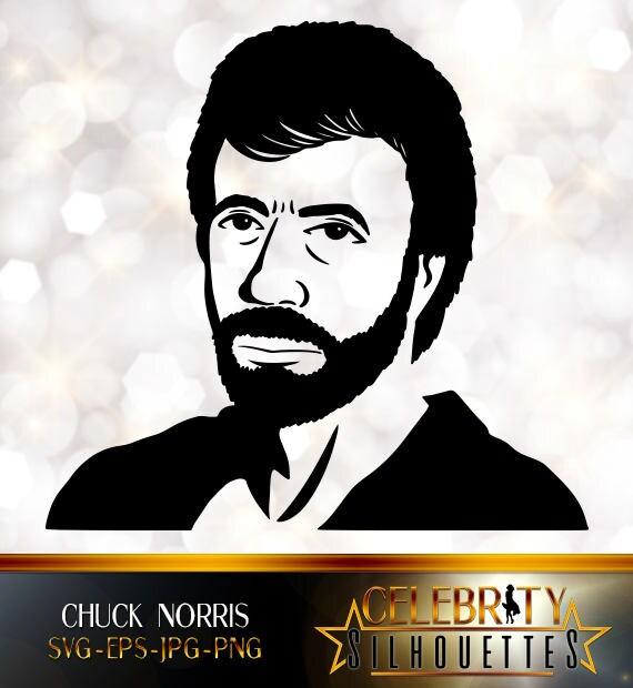 Chuck Norris Maschere di persone famose facce di cartone